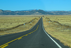 photo of New Mexico highway, by John Hulsey