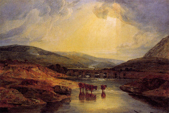 Abergavenny Bridge Monmountshire by JMW Turner