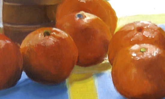 Angels and Clementines 12 x 24 Oil detail © Ann Trusty