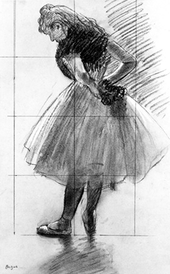 Dancer Tying Her Scarf by Edgar Degas