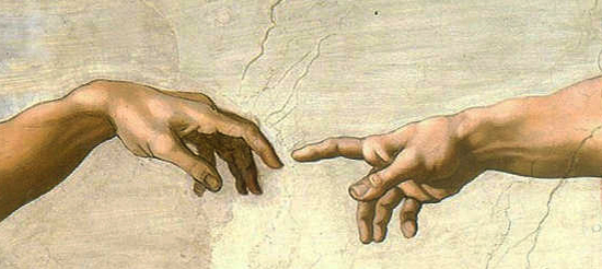 Detail from The Creaton of Adam by Michelangelo