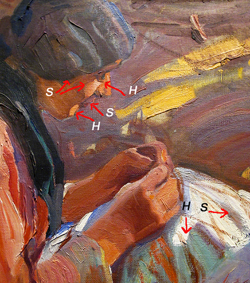 detail from Sorolla's Vision of Spain