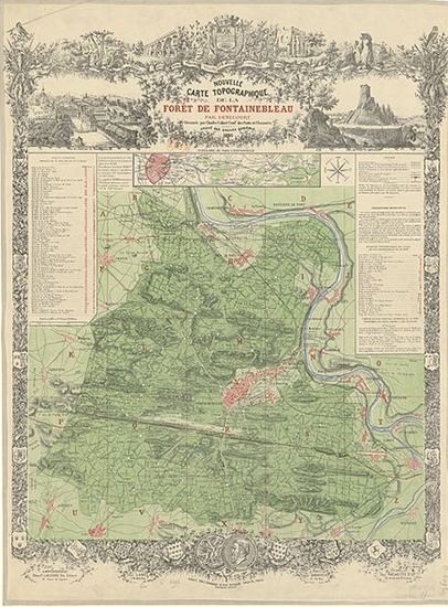Map of the Forest of Fontainebleau