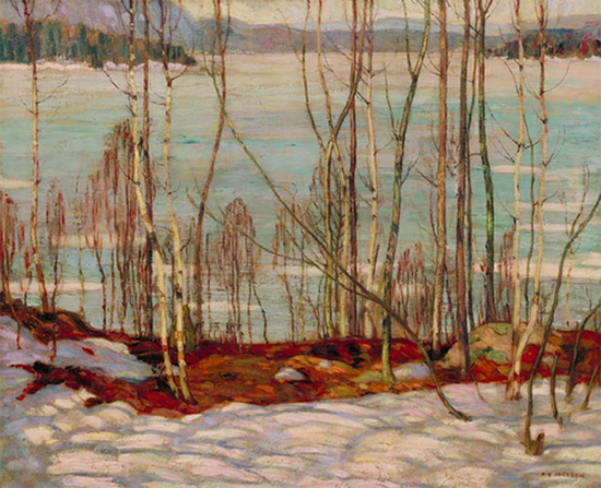 Frozen Lake Early Spring, Algonquin Park, 1914, A. Y. Jackson