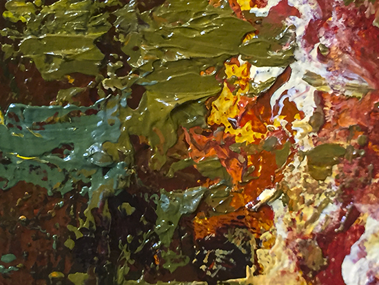 Detail from a Palette Knife Painting © J. Hulsey