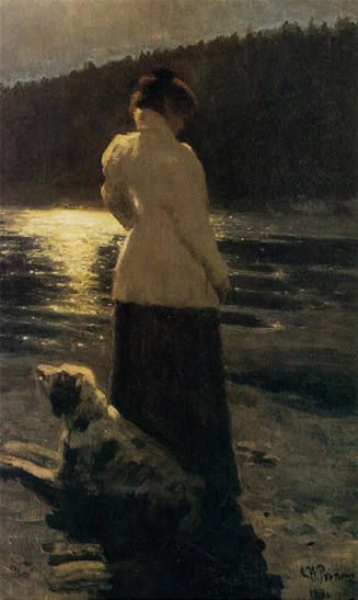 Moonlight, 1896, Ilya Repin