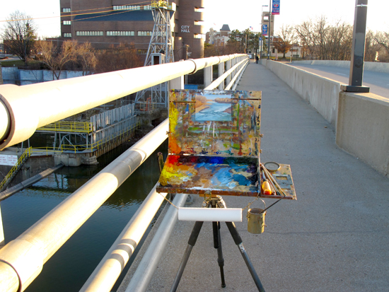 Plein Air Painting on the Bridge