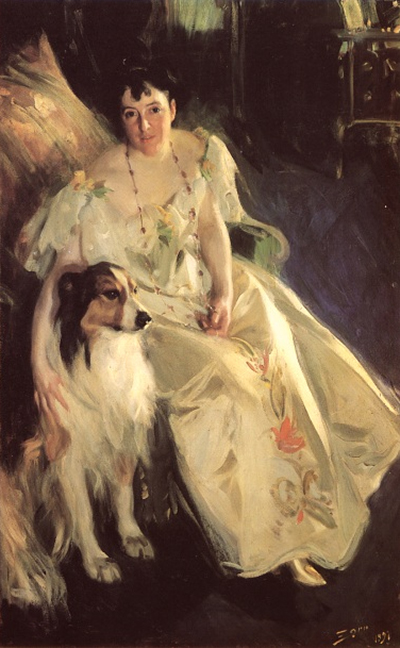 portrait of Virginia Bacon by Anders Zorn