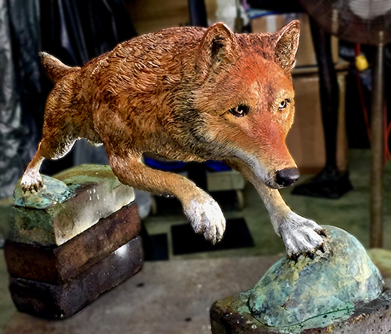 Red Wolf Bronze © J. Hulsey