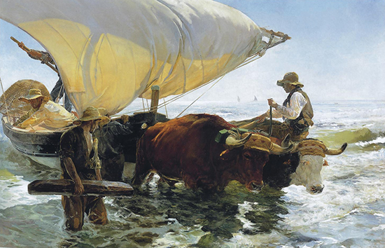 Return from Fishing by Joaquin Sorolla