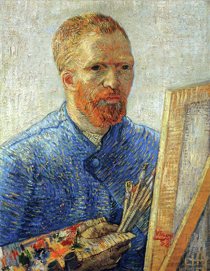 Self Portrait as an Artist, 1888, Vincent van Gogh