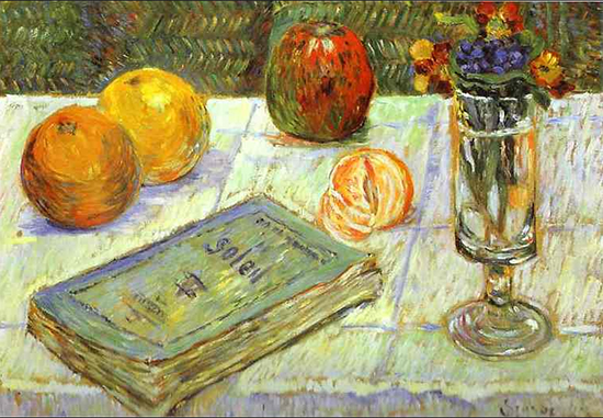 Still Life with a Book by Paul Signac