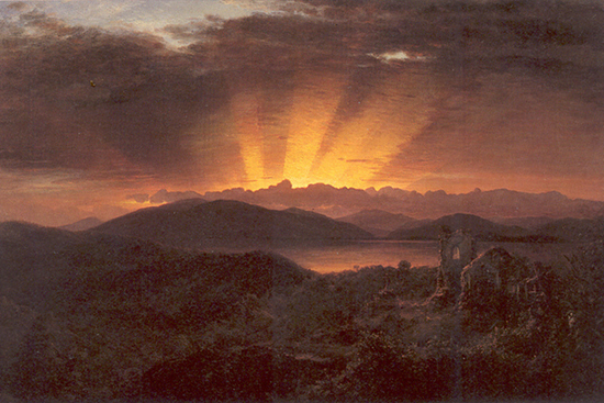 The Afterglow by Frederic Church