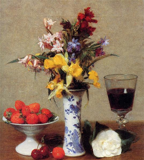 The Engagement Still Life 1869 Henri Fantin-Latour