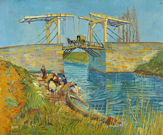 The Langlois Bridge at Arles with Women Washing, 1888, Vincent van Gogh