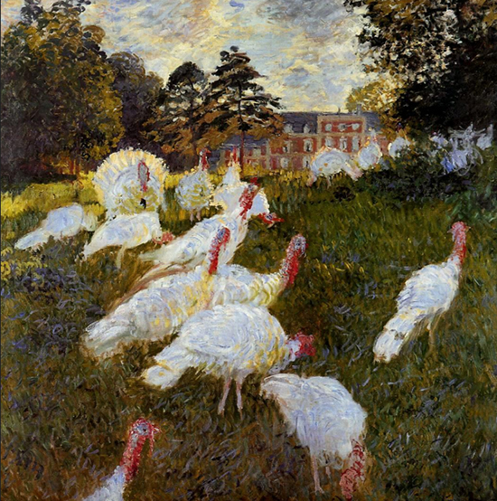 The Turkeys by Claude Monet