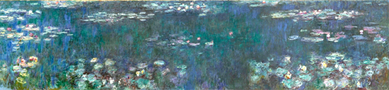 The Water Lilies: Green Reflections, ca. 1915 -26, Claude Monet
