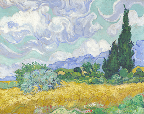 Wheat Field with Cypresses, 1889, Vincent van Gogh National Gallery