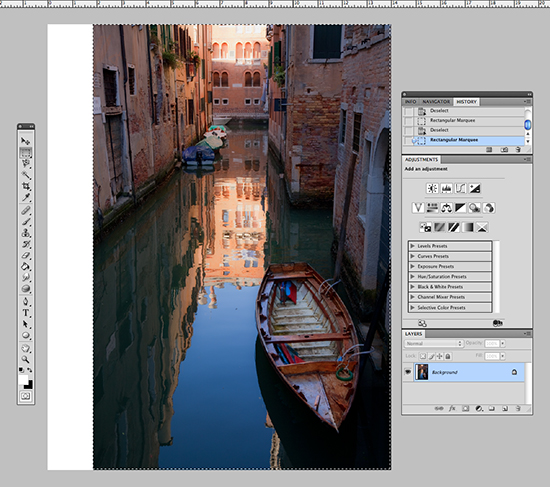 screen shot of photoshop editor window