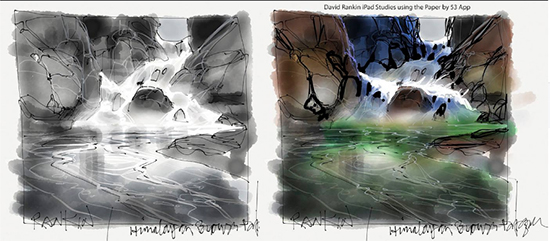 David Rankin iPad Sketches for Quick Draw