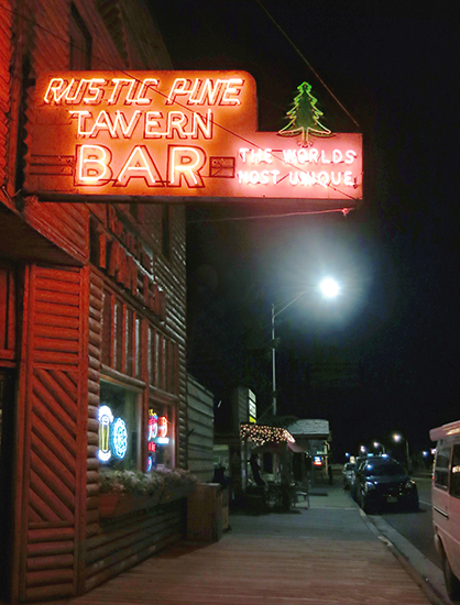 Photo of The Rustic Pine Bar in Dubois, WY, ©John Hulsey