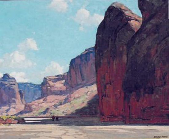 oil painting of western landscape by Edgar Alwin Payne