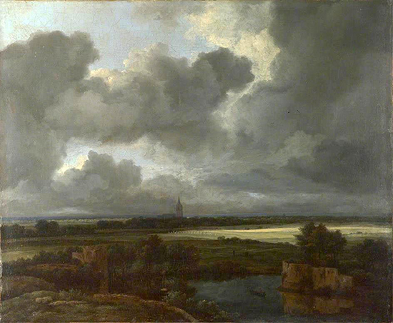 oil painting of landscape by Jacob Isaackszoon van Ruisdael