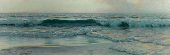 oil painting of an ocean wave, by Alexander Harrison
