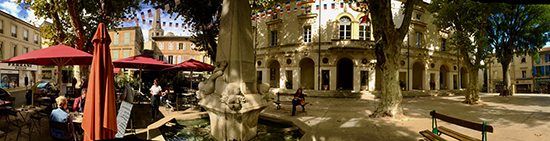 photo of square in St. Remy, France, by John Hulsey