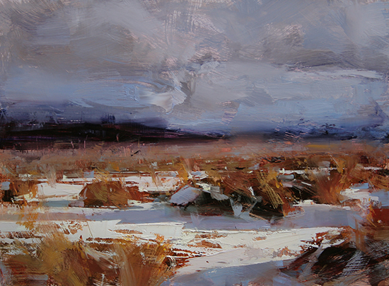 Golden Winter, 12 x16, © Tibor Nagy