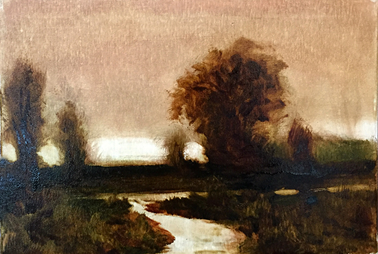 Tonalist oil painting demonstration by John Hulsey
