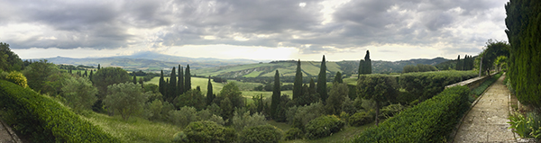 Panorama of the View from the La Foce Gardens © A. Trusty