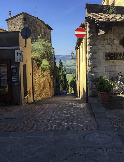 Photo of Pienza, Italy. © J. Hulsey