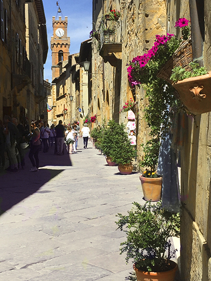 Photograph of Pienza © A. Trusty