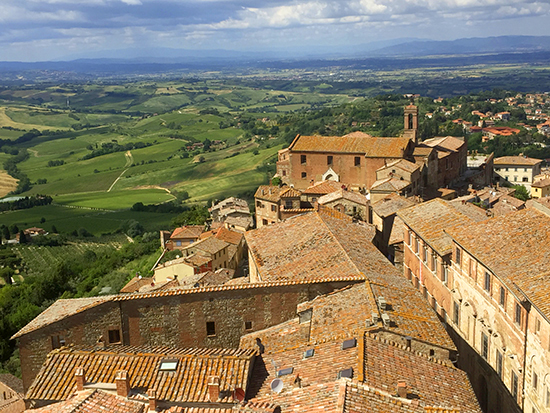 photo of the view from Montepulciano, Italy. © J. Hulsey
