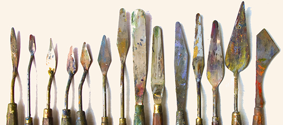 photo of palette knives