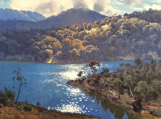 Morning Light on Lake Lyall, 45 x 60 cm, © Warwick Fuller