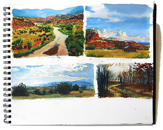 photo of my Canson watercolor sketchbook. © John Hulsey