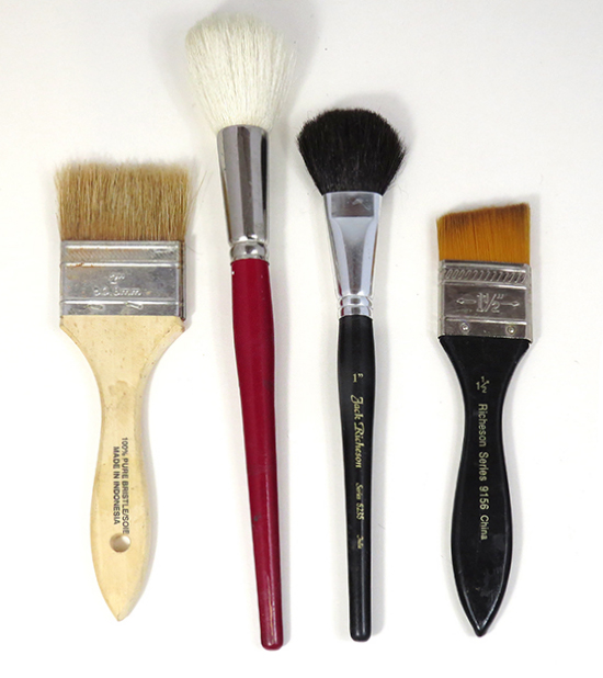 photo of watercolor mops and special brushes