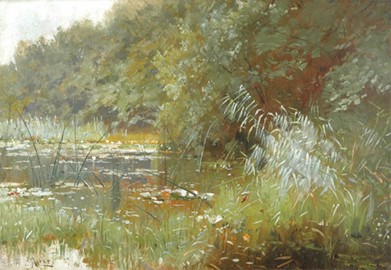 Forest Pond with Water Lilies, Walter Moras