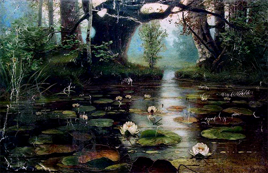 Pond with Water Lilies, 1893, Julius Klever