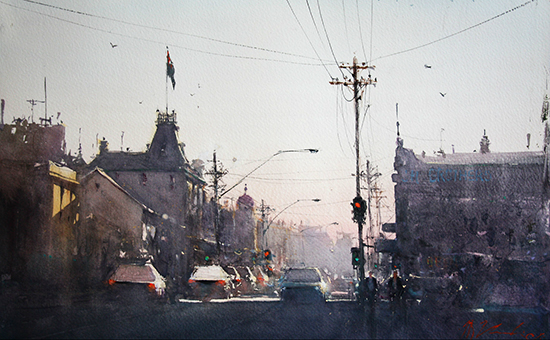 Watercolor by Joseph Zbukvic